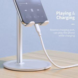 FLOVEME Tablet Phone Holder Desk For Cell Phone  Mobile Phone Stand Mount (Sliver)