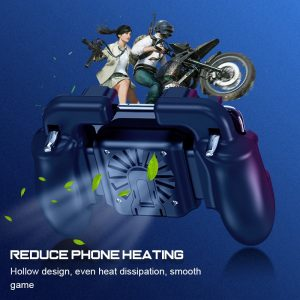 Trigger Shooter Mobile  Fan Gamepad  Stand Radiator Mute  for 4-6.5 Smartphone