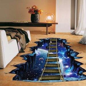 NEW Large 3d Cosmic Space Wall Sticker Galaxy Star Bridge Home Decoration