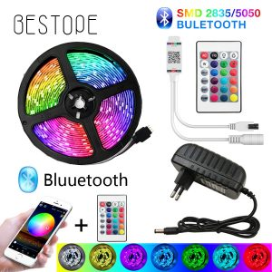 BESTOPE Bluetooth LED Strip Lights 20M RGB 5050 SMD Flexible Ribbon Waterproof