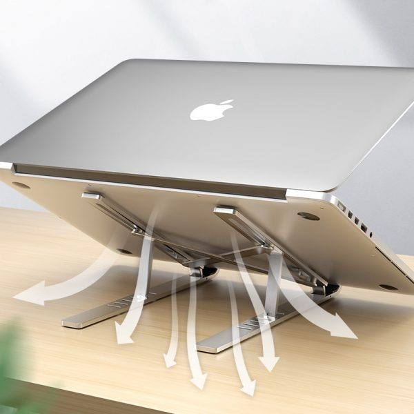 LINGCHEN Laptop Holder for MacBook Air Pro Notebook Stand Bracket Foldable Aluminium