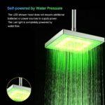 LED Rainfall Shower Head Square Shower