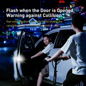 Baseus 2Pcs 6 LEDs Car Openning Door Warning Light Safety Anti-collision Flash