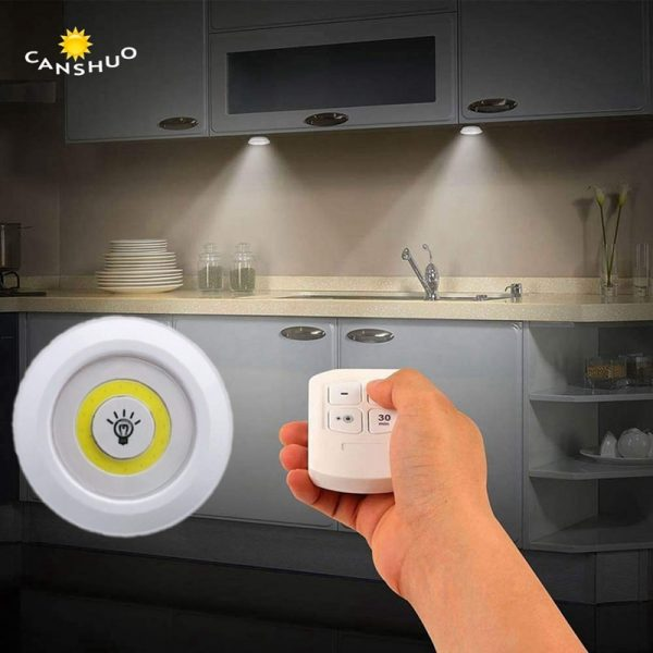 New Dimmable LED Under Cabinet Light with Remote Control Battery Operated LED
