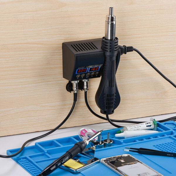 2 in 1 750W hot air gun LCD Digital display welding rework station for cell-phone BGA