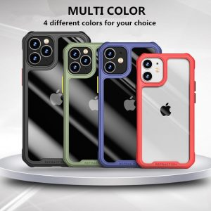 Luxury Transparent Case For iPhone 12 11 Pro Max 12 Mini Shockproof Airbag Cases
