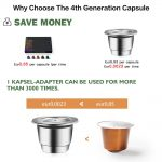iCafilas New Upgraded Reusable Capsule For Nespresso Stainless Steel