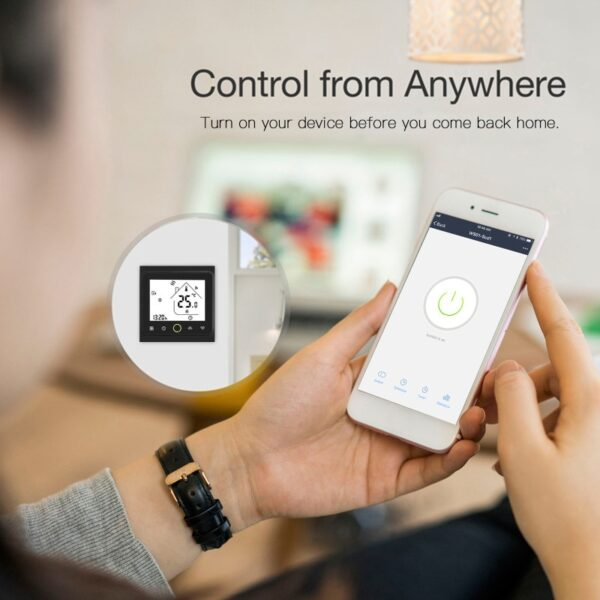 WiFi Smart Thermostat Temperature Controller for Water/Electric floor Heating Water/Gas