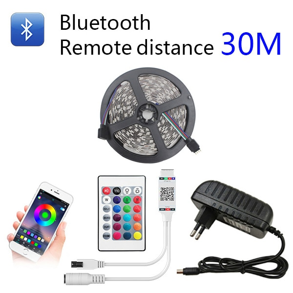 BESTOPE Bluetooth LED Strip Lights 20M RGB 5050 SMD Flexible Ribbon Waterproof RGB LED Light 5M 10M Tape Diode DC 12V Control