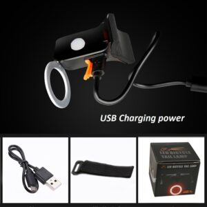Zacro Multi Lighting Modes Bicycle Light USB Charge Led Bike Light Flash Tail Rear