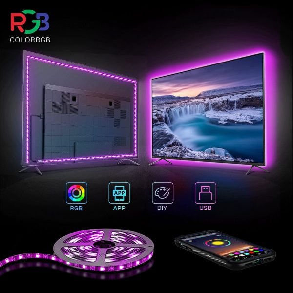 ColorRGB, TV Backlight , USB Powered LED strip light ,RGB5050
