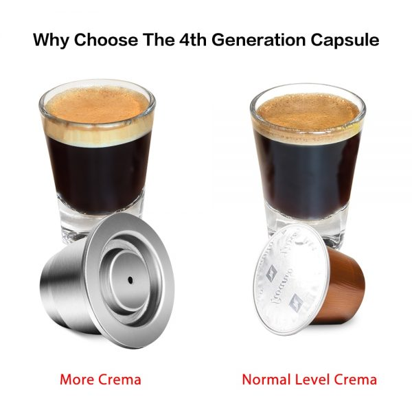 iCafilas New Upgraded Reusable Coffee Capsule For Nespresso Stainless Steel