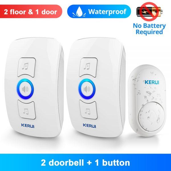 KERUI M525 Home Security Welcome Wireless Doorbell Smart Chimes Door Bell Alarm LED