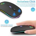 Wireless Mouse Bluetooth RGB Rechargeable Mouse