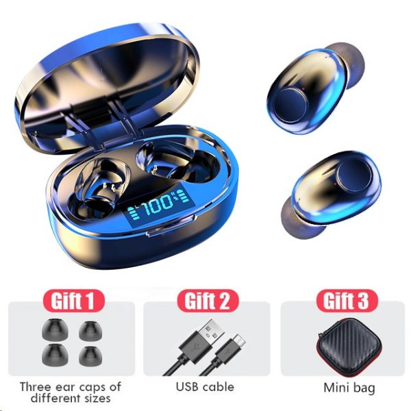 Wireless Earphone Bluetooth 5.0 TWS Headsets LED Display with mic Hifi Stereo Sport Earbuds earphones bass for smart phone
