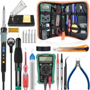 Handskit 80W Digital Soldering Iron kit Temperature Electric Soldering Iron 110V 220V