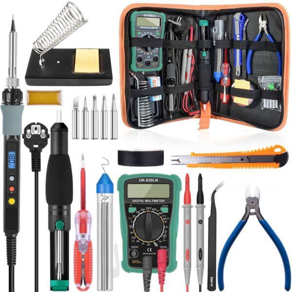 Handskit 80W Digital Soldering Iron kit Temperature Electric Soldering Iron 110V 220V