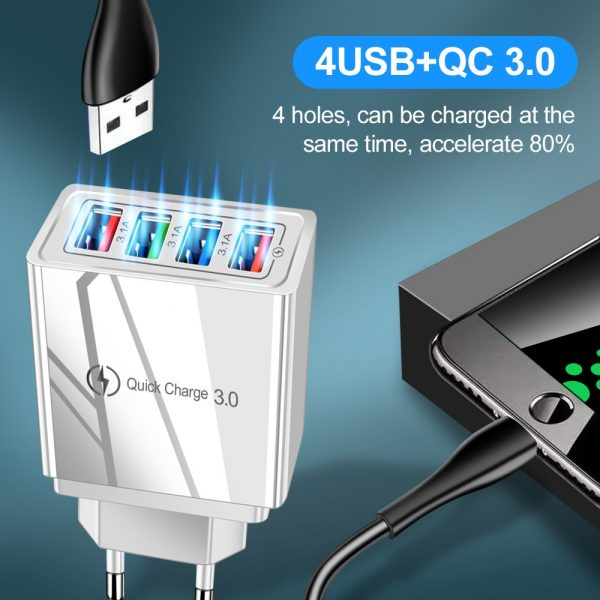 USB Charger Quick Charge 3.0 For Phone Adapter for Tablet Portable Fast Charger