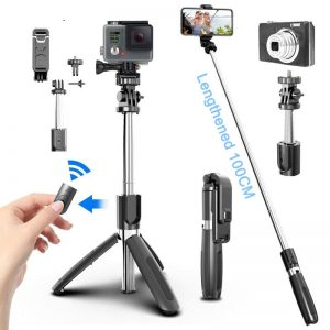 Bluetooth Wireless Selfie 4 In1 Stick Tripod Foldable