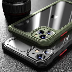 Luxury Transparent Case For iPhone 12 11 Pro Max 12 Mini Shockproof Airbag Cases For iPhone SE 2020 7 8 Plus X XS Max XR Cover