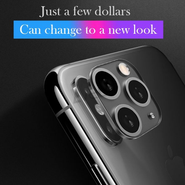 3Pcs Set Modified Metal Sticker Seconds Change Camera Lens Cover For iPhone X XS XR MAX Fake Camera to For iPhone 11 Pro Max
