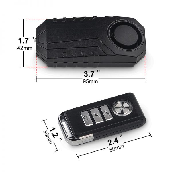 Waterproof Bike Anti-Theft Alarm Wireless Remote Control Motorcycle Bicycle Security