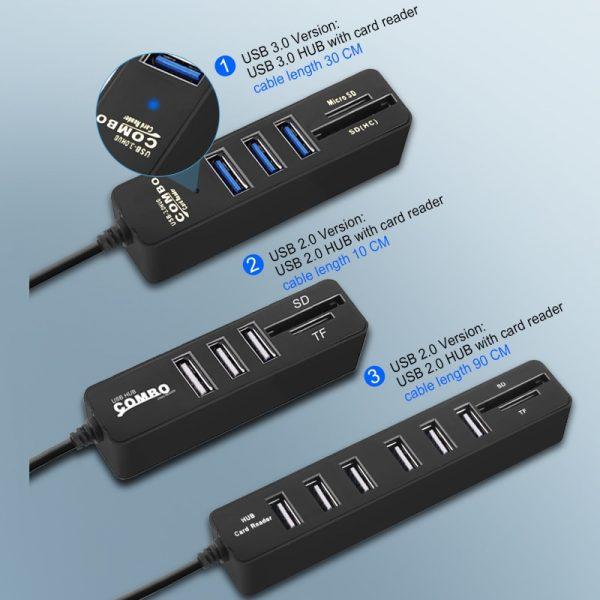 USB Hub 3.0 Multi USB 3.0 Hub USB Splitter High Speed