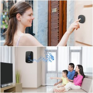 KERUI M525 Home Security Welcome Wireless Doorbell Smart Chimes Door Bell Alarm LED