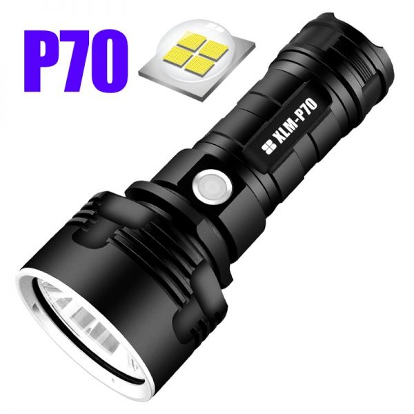 Super Powerful LED Flashlight L2 XHP50 Tactical Torch USB Rechargeable