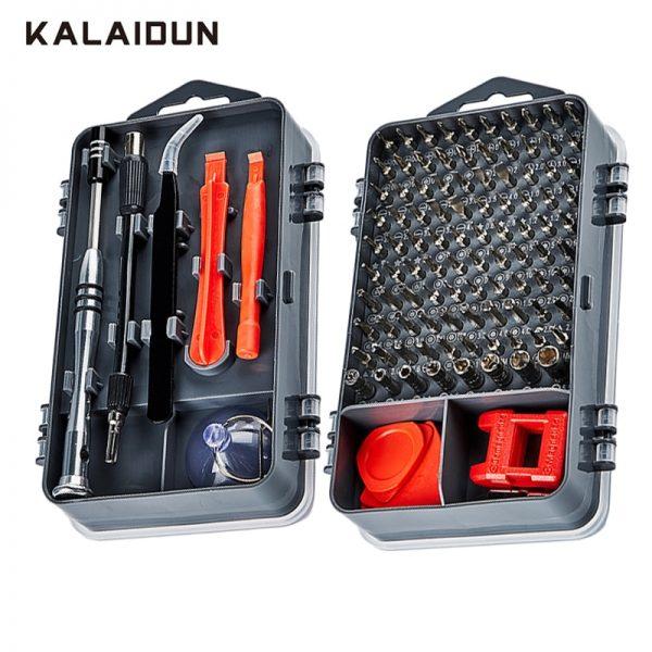 KALAIDUN 112 in 1 Screwdriver Set Magnetic Screwdriver Bit Torx Multi Mobile Phone