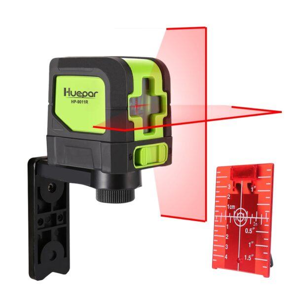 Huepar 2 Lines Laser Level Self Levelling ( 4 degrees) Green Red Beam Laser