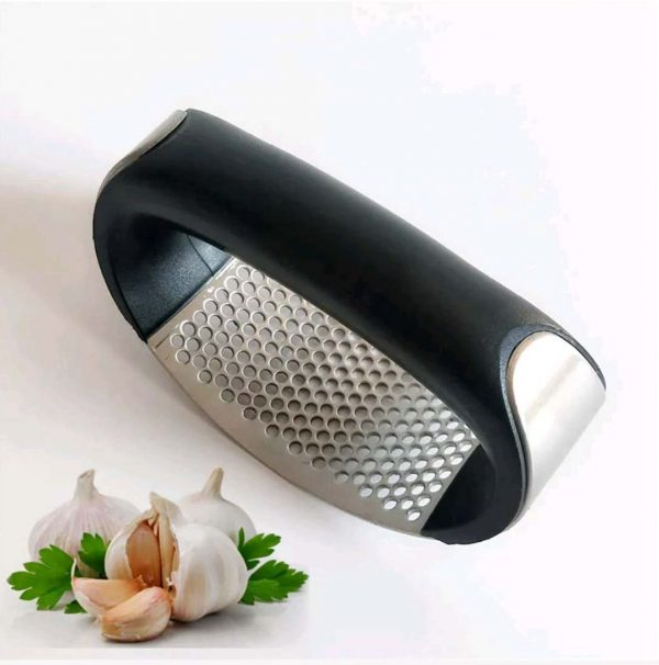 1pcs Stainless Steel Garlic Press Manual Garlic Mincer Chopping Garlic Tools Curve Fruit Vegetable Tools Kitchen Gadgets