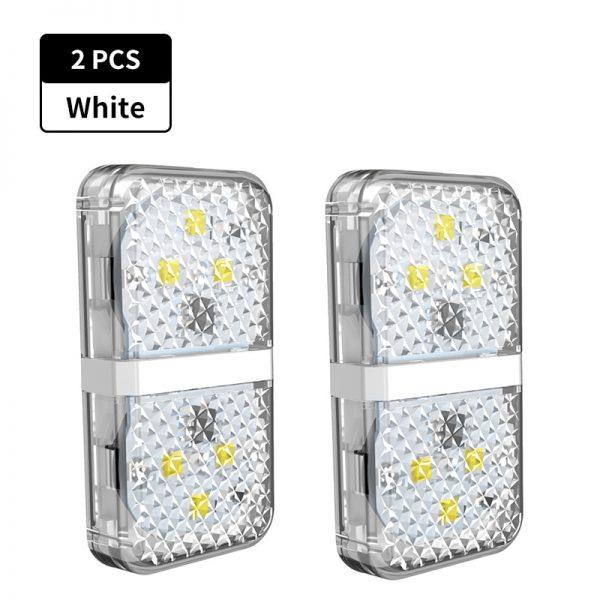 Baseus 2Pcs 6 LEDs Car Openning Door Warning Light Safety Anti-collision Flash