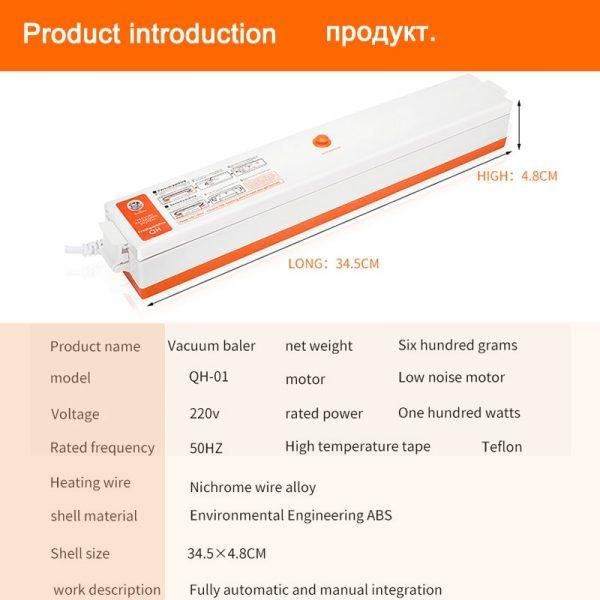 Vacuum Packing Machine Sous Vide Vacuum Sealer 220V/110V For Food Storage New Food