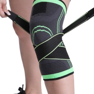 WorthWhile 1PC Sports Kneepad Men Pressurized Elastic Knee Pads Support Fitness
