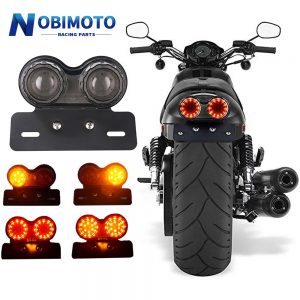 12V Universal Motorcycle Signal Lights Twin Dual Motorbike Taillight Rear Lamp LED