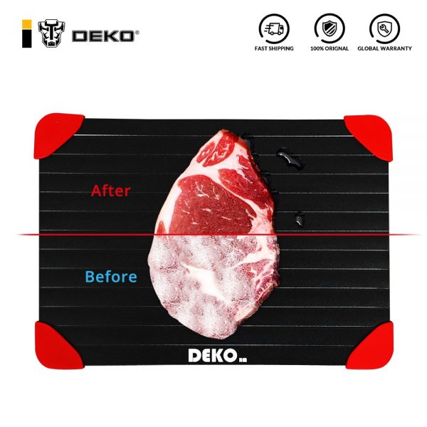 DEKO Magic Fast Defrosting Tray Thawing Chopping Board Thaw Food Fruit Steak Meat Seafood Quickly Kitchen Gadgets Tools
