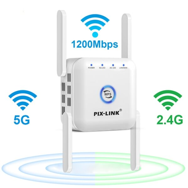 5G WiFi Repeater WiFi Amplifier 5Ghz WiFi Long Range Extender 1200M Wireless Wi Fi