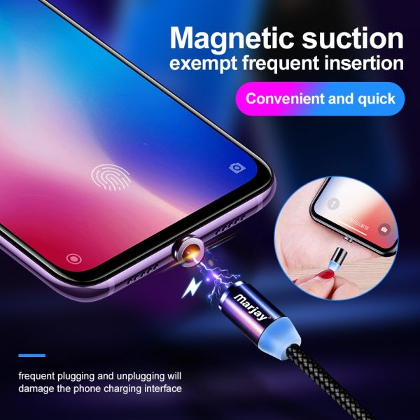 Marjay Magnetic Micro USB Cable For iPhone Samsung Android Fast Charging Magnet Charger