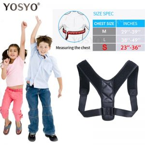 YOSYO Brace Support Belt Adjustable Back Posture Corrector Clavicle Spine Back