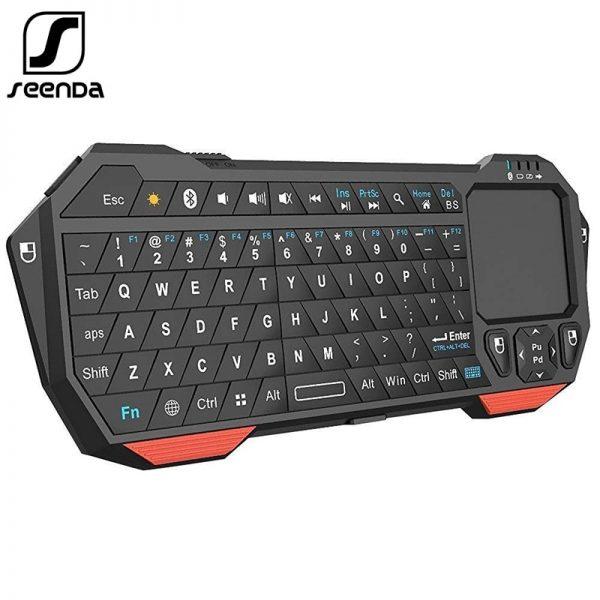 SeenDa Mini Bluetooth Keyboard Touchpad for Smart TV Compatible Android iOS Windows