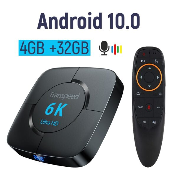 Android 10.0 TV BOX 6K Youtube Google Assistant 3D Video TV receiver Wifi Bluetooth TV