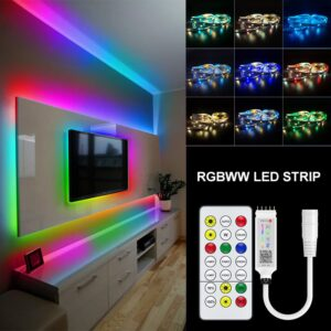 Bluetooth RGBWW Led Strip Light DC12V RGBWW Flexible Individually Addressable