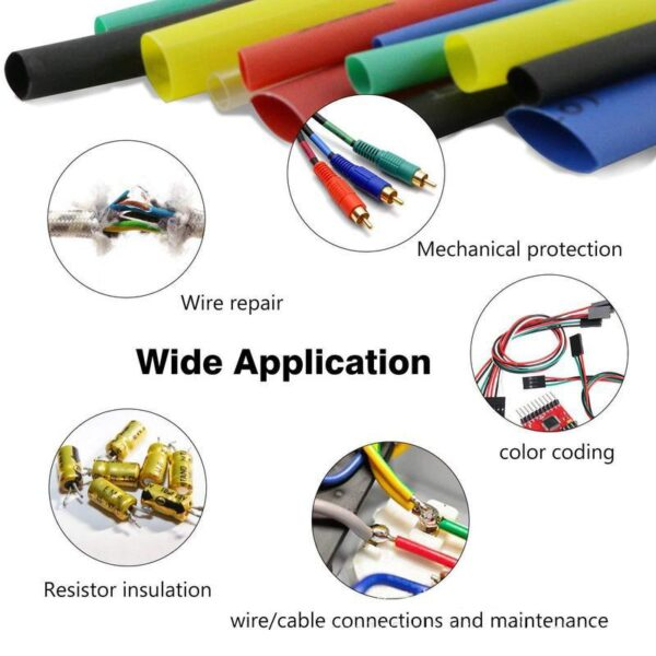Multicolor/Black Polyolefin Shrinking Assorted Heat Shrink Tube Wire Cable