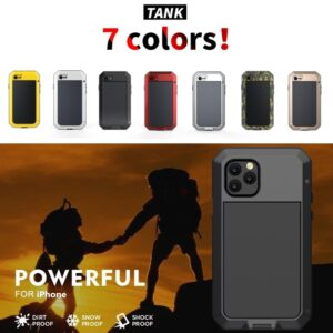 Heavy Duty Protection Armor Metal Aluminum phone Case for iPhone All Shockproof Cover