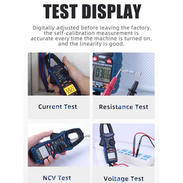 Digital Clamp Meter Multimeter Auto Range A-BF CS206B/CS206D Current Voltage Temp