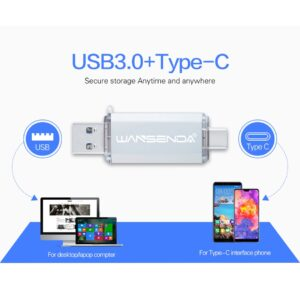 Hotsale WANSENDA OTG USB Flash Drive Type C Pen Drive USB Stick 3.0 Pendrive