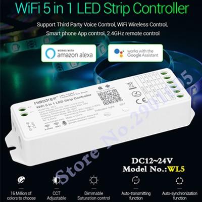 led strip controller WL5 wifi 5 in 1 for RGBW RGB+CCT led strip;2.4G HZ remote:FUT092,8