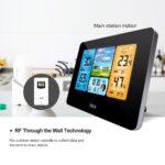 Digital Weather Station LCD FJ3373 Multifunction Alarm Clock Indoor Outdoor Weather