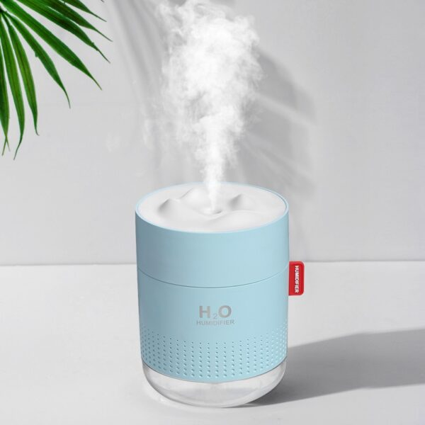 White Snow Mountain Humidifier 500ML Ultrasonic USB Aroma Air Diffuser Soothing Light
